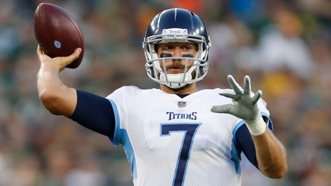 <p>               FILE - In this Aug. 9, 2018 file photo Tennessee Titans' Blaine Gabbert throws during the first half of a preseason NFL football game against the Green Bay Packers in Green Bay, Wis. Gabbert quickly stopped the reporter asking the quarterback about learning his fourth offense in four years. The Titans, who signed Gabbert in March to back up Marcus Mariota, are just the fourth team that the quarterback has played for since being drafted by Jacksonville in 2011. But coach Mike Vrabel is the eight different head coach and yes, the eighth different scheme that Gabbert has had to learn since coming into the NFL from Missouri. (AP Photo/Matt Ludtke, file)             </p>