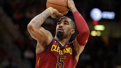 <p>               FILE - In this Jan. 28, 2018, file photo, Cleveland Cavaliers' JR Smith shoots against the Detroit Pistons in the first half of an NBA basketball game, in Cleveland.  J.R. Smith has been accused of breaking the cellphone of a fan who tried to videotape him in the middle of the night on a New York City street. Police say the Cavaliers guard turned himself in Friday, Aug. 31, 2018, to face a misdemeanor criminal mischief charge. The NBA champion was given a summons to appear in court at a later date and released. (AP Photo/Tony Dejak, File)             </p>