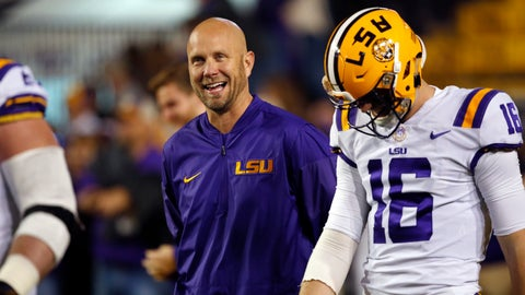 <p>               File-This Nov. 25, 2017, file photo shows then LSU offensive coordinator Matt Canada walking on the field before an NCAA college football game against Texas A&M in Baton Rouge, La.  Maryland offensive coordinator Canada is the interim coach. The 46-year-old came to Maryland after coaching at seven schools over the past nine years, including a one-and-done stint at Louisiana State in 2017. Now, without a shred of head coaching experience, Canada is in control of a shaken Big Ten team in disarray. (AP Photo/Gerald Herbert, File)             </p>