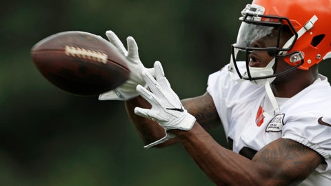 <p>               FILE - In this Friday, July 27, 2018, file photo, Cleveland Browns wide receiver Corey Coleman catches a pass during NFL football training camp, in Berea, Ohio. On Sunday, Aug. 5, 2018, a person familiar with the negotiations says the Cleveland Browns have agreed to trade disappointing wide receiver Corey Coleman to the Buffalo Bills for a draft pick. (AP Photo/Tony Dejak, File)             </p>
