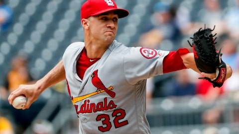 <p>               St. Louis Cardinals starter Jack Flaherty pitches against the Pittsburgh Pirates in the first inning of a baseball game, Sunday, Aug. 5, 2018, in Pittsburgh. (AP Photo/Keith Srakocic)             </p>