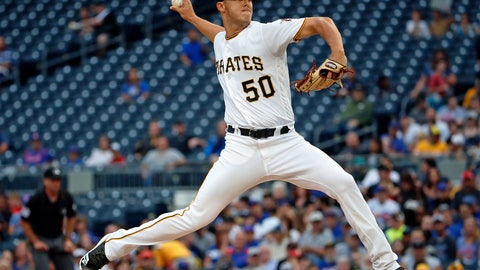 <p>               Pittsburgh Pirates starting pitcher Jameson Taillon delivers during the first inning of the team's baseball game against the Chicago Cubs in Pittsburgh, Tuesday, July 31, 2018. (AP Photo/Gene J. Puskar)             </p>