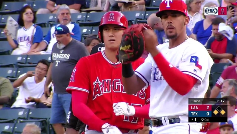 Shohei Ohtani makes Elvis Andrus look silly with scorching RBI hit
