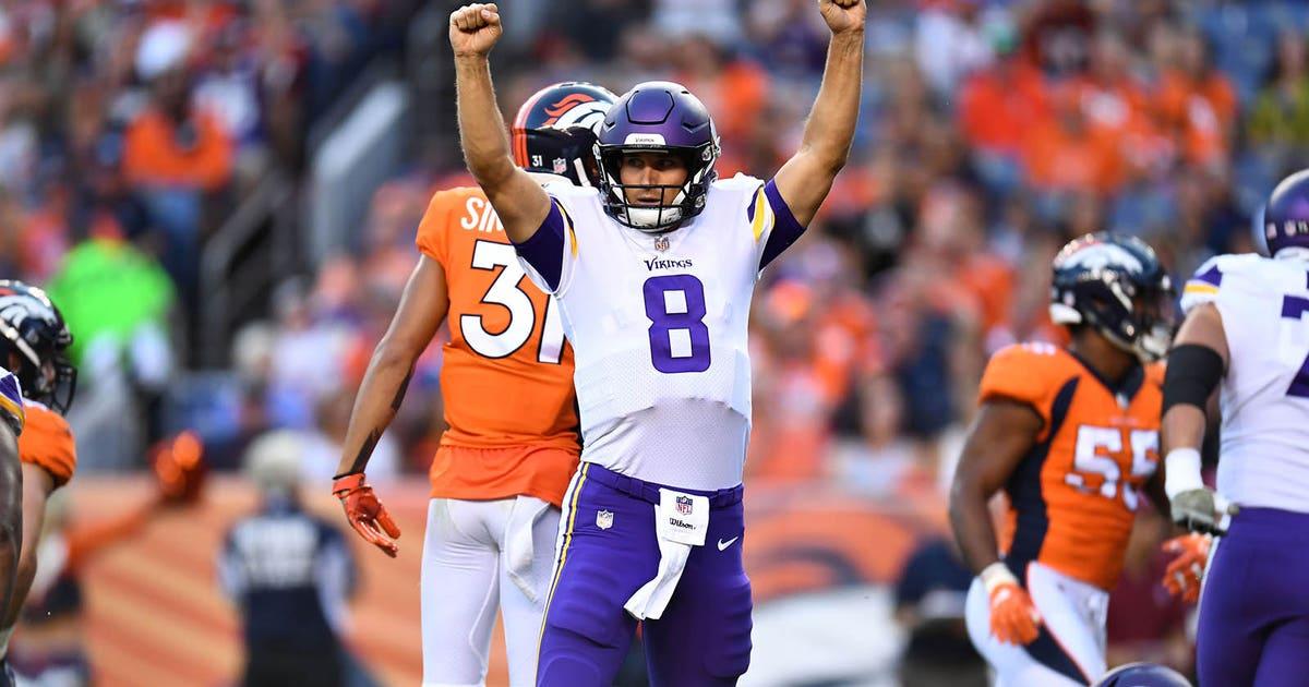 Cousins Conducts Scoring Drive Vikings Top Broncos 42 28