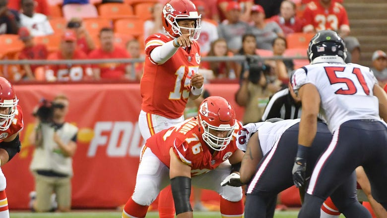 Chiefs have weapons aplenty, but O-line must be Mahomes' best pal