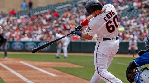 Jake Cave, Twins outfielder (↑ UP)
