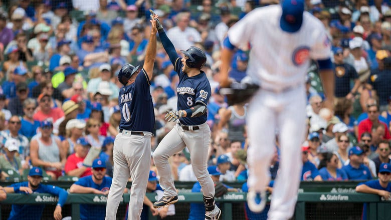 Braun homers twice, Brewers shut out Cubs