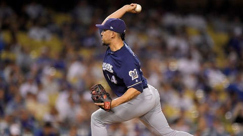 Hernan Perez, Brewers pitcher (↓ DOWN)