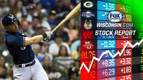 Ryan Braun, Brewers outfielder (↑ UP)