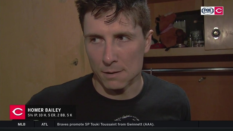 Homer Bailey finds some silver linings in tough outing vs. Indians