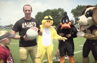 WATCH: Drew Brees, Saints QBs take on the 'Duck Hunt Challenge' in latest trick shot video