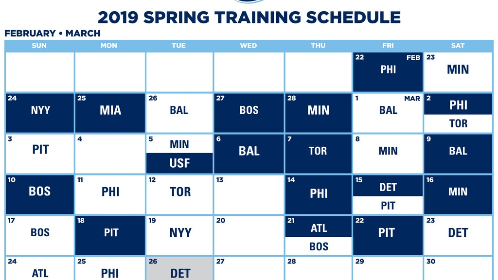 tampa bay rays schedule