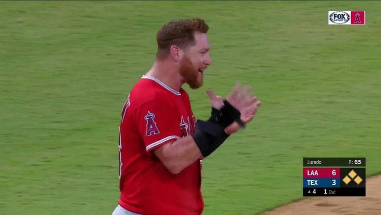 Rangers turn wild triple play to spoil Angels potential huge inning