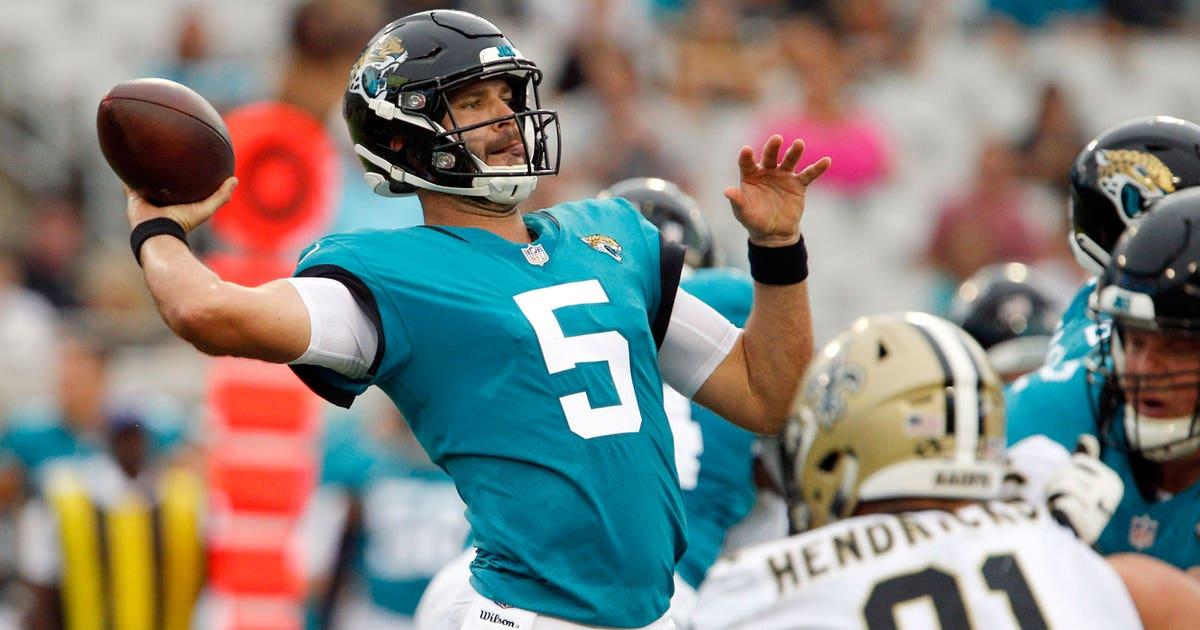 63e86bae745 NFL preseason  Jaguars  Bortles solid against Saints