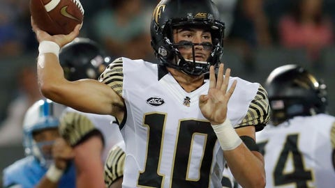 <p>               FILE - In this Aug. 30, 2018, file photo, Wake Forest quarterback Sam Hartman throws a pass during the first half of an NCAA college football game against Tulane, in New Orleans. No Wake Forest quarterback had a better starting debut than Sam Hartman. The freshman wants to keep it going in Week 2.  The Demon Deacons (1-0) play host to Towson (1-0) of the FCS on Saturday, Sept. 8. (AP Photo/Veronica Dominach)             </p>
