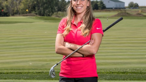 <p>               In this Sept. 7, 2017, photo provided by Iowa State University in Ames, Iowa, golfer Celia Barquin Arozamena poses for a photo. The former ISU golfer was found dead Monday, Sept. 17, 2018, at a golf course in Ames.  Collin Daniel Richards, was arrested and charged with first-degree murder in her death. (Luke Lu/Iowa State University via AP)             </p>