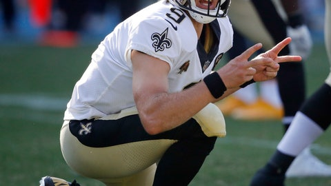 <p>               FILE - In this Aug. 25, 2018, file photo, New Orleans Saints quarterback Drew Brees motions before starting a play during the first half of an NFL preseason football game against the Los Angeles Chargers, in Carson, Calif. The Atlanta Falcons may be a step ahead of the New Orleans Saints in each team's search for offensive balance. That's not enough to make Falcons defensive coordinator Marquand Manuel rest easy. The Saints have Drew Brees, and the veteran quarterback's guile is enough to make any defensive coach lose sleep. (AP Photo/Jae C. Hong, File)             </p>