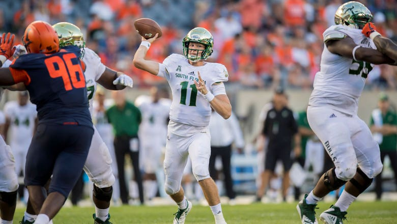 Blake Barnett leads USF back in 4th to beat Illinois 25-19 at Soldier Field