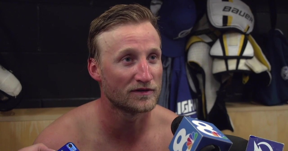 Steven Stamkos stoked to be back in competitive atmosphere of Lightning training camp