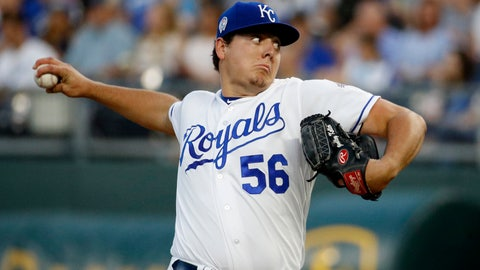 <p>               Kansas City Royals relief pitcher Brad Keller throws during the first inning of a baseball game against the Chicago White Sox, Tuesday, Sept. 11, 2018, in Kansas City, Mo. (AP Photo/Charlie Riedel)             </p>