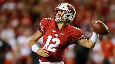 <p>               FILE - In this Aug. 31, 2018, file photo, Wisconsin quarterback Alex Hornibrook throws a pass against Western Kentucky during the first half of an NCAA college football game, in Madison, Wis. Tight end Zander Neuville returned last week from injury and receiver Danny Davis is due back from suspension. Two more targets for Hornibrook. (AP Photo/Andy Manis, File)             </p>