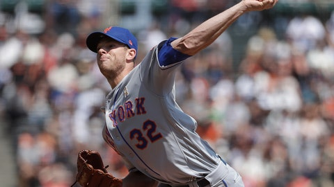<p>               New York Mets pitcher Steven Matz throws against the San Francisco Giants during the second inning of a baseball game in San Francisco, Saturday, Sept. 1, 2018. (AP Photo/Jeff Chiu)             </p>