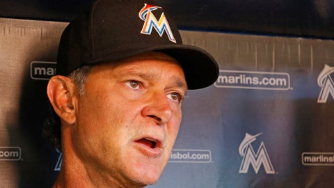 <p>               Miami Marlins manager Don Mattingly speaks with the press before a baseball game against the Cincinnati Reds in Miami, Thursday, Sept. 20, 2018. (AP Photo/Joe Skipper)             </p>