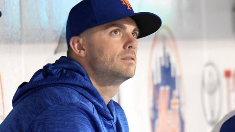 <p>               New York Mets' David Wright watches from the dugout as the Mets and the Philadelphia Phillies play a baseball game Friday, Sept. 7, 2018, in New York. (AP Photo/Bill Kostroun)             </p>