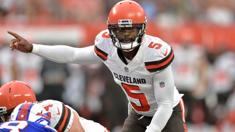 <p>               FILE - In this Aug. 17, 2018, file photo, Cleveland Browns quarterback Tyrod Taylor (5) stands at the line during the team's NFL football preseason game against the Buffalo Bills in Cleveland. For the Browns, winning the season opener over Pittsburgh could bring closure. The end of a 17-game losing streak. The first opening-week victory since 2004. More relief from the haunting memories of an 0-16 season. A new beginning for a franchise and fan base that has suffered far too long. Rarely has a first game felt some important.(AP Photo/David Richard, File)             </p>