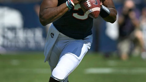 <p>               Connecticut quarterback David Pindell (5) looks to pass during an NCAA college football game against Rhode Island, Saturday, Sept. 15, 2018, in East Hartford, Conn. (AP Photo/Jessica Hill)             </p>