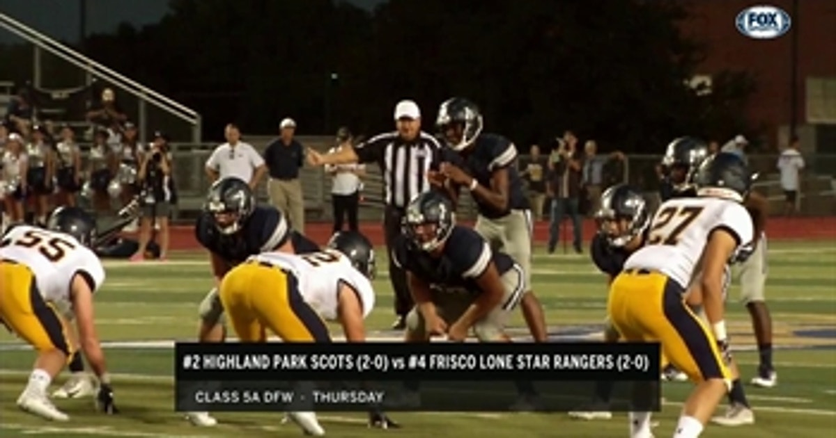 Highlights 2 Highland Park Vs 4 Frisco Lonestar High School