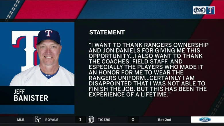 Jeff Banister releases statement on parting ways with Rangers   Rangers Live