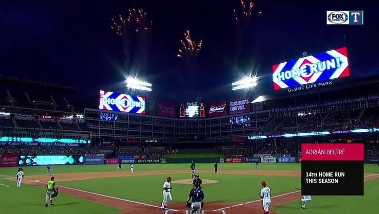 HIGHLIGHTS: Adrian Beltre hits 3-Run Home Run in 1st inning, 14th of the season   Mariners at Rangers