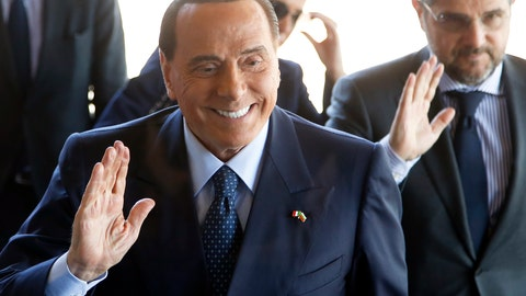 <p>               FILE - In this Wednesday, May 16, 2018 file photo, former Italian Prime Minister Silvio Berlusconi arrives for a meeting of the EPP at a hotel in Sofia, Bulgaria. ilvio Berlusconi is reportedly getting back into football. The Gazzetta dello Sport says that Berlusconi's family holding company Fininvest has reached a deal to purchase Serie C club Monza in a deal worth between 2.5 and 3 million euros ($3-3.5 million). The 81-year-old Berlusconi, a three-time Italian premier, last year sold AC Milan to a Chinese-led consortium for $800 million. U.S.-based hedge fund Elliott Management then took over control of Milan two months ago after the Chinese owner missed a deadline to repay part of a loan. (AP Photo/Darko Vojinovic, File)             </p>