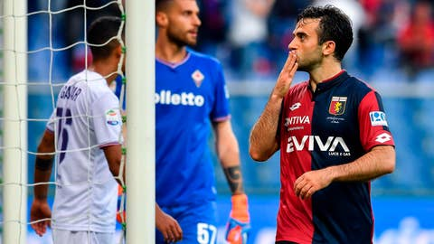 <p>               FILE  -  In this  Sunday, May 6, 2018 file photo Genoa forward Giuseppe Rossi celebrates after scoring his side's first goal during the Italian Serie A soccer match between Genoa and Fiorentina at the Luigi Ferraris stadium in Genoa, Italy. Italy's anti-doping agency Nado Italia announced on Tuesday Sept. 25, 2018 that Rossi will stand trial next week after testing positive for and eye drug that can be used as a masking agent.(Simone Arveda/ANSA via AP)             </p>