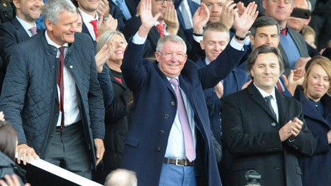 <p>               Former Manchester United manager Alex Ferguson waves as he takes his seat on the stands before the English Premier League soccer match between Manchester United and Wolverhampton Wanderers at Old Trafford stadium in Manchester, England, Saturday, Sept. 22, 2018. (AP Photo/Rui Vieira)             </p>