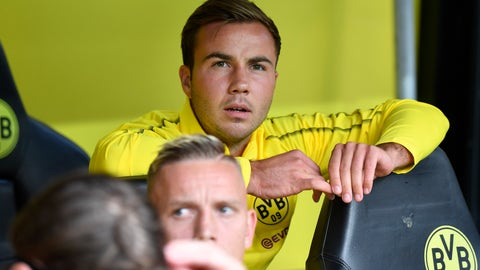 <p>               FILE - In this Aug. 26, 2018 file photo Dortmund's Mario Goetze sits on the bench during the German Bundesliga soccer match between Borussia Dortmund and RB Leipzig in Dortmund, Germany. (AP Photo/Martin Meissner, file)             </p>