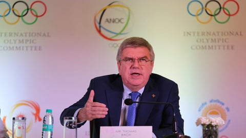 <p>               FILE - In this Thursday April 19, 2018 file photo, International Olympic Committee (IOC) President Thomas Bach addresses a press conference in New Delhi, India. Bach said in Jakarta, Saturday, Sept. 1, 2018, that he isn't certain if, or when, esports might be incorporated into the Olympic Games. (AP Photo/Altaf Qadri,File)             </p>