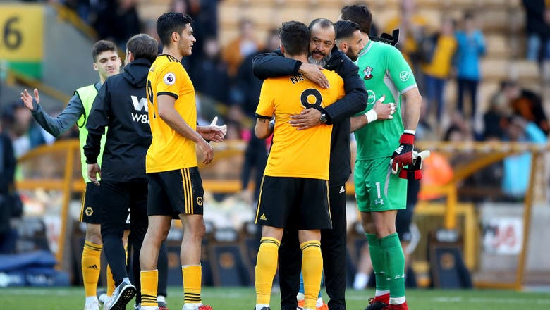 Cavaleiro scores with first touch in EPL, Wolves beat Saints
