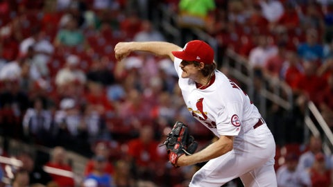 <p>               St. Louis Cardinals starting pitcher Miles Mikolas throws during the first inning of a baseball game against the Pittsburgh Pirates Tuesday, Sept. 11, 2018, in St. Louis. (AP Photo/Jeff Roberson)             </p>