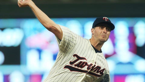 <p>               Minnesota Twins pitcher Jake Odorizzi throws against the New York Yankees in the third inning of a baseball game Wednesday, Sept. 12, 2018, in Minneapolis. (AP Photo/Jim Mone)             </p>