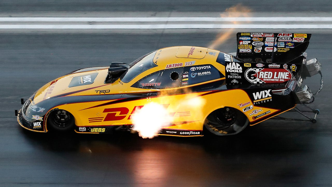 J R  Todd wins Funny Car Final at Indianapolis | 2018 NHRA DRAG RACING