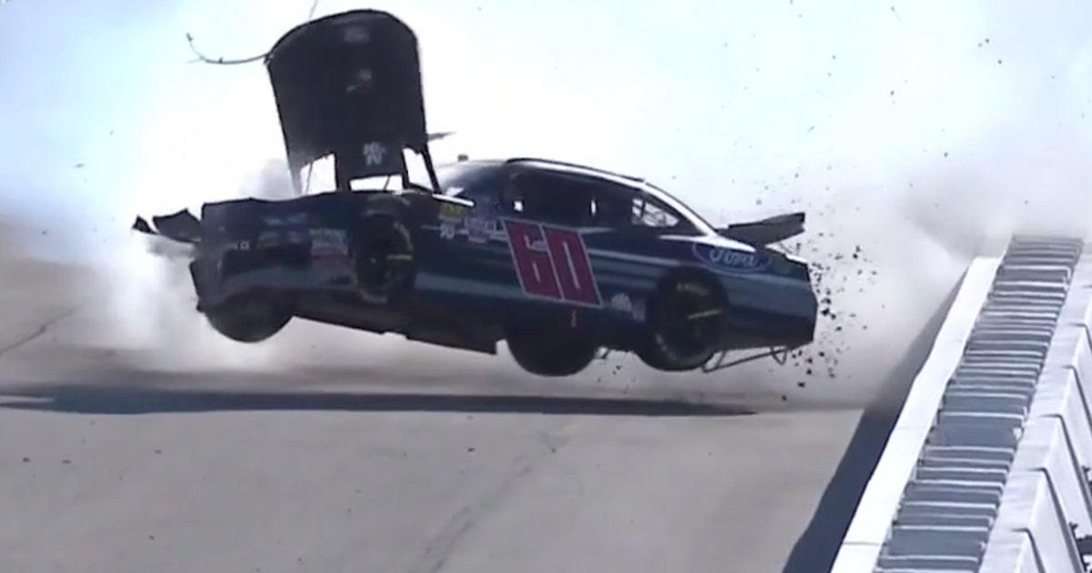 Chase Briscoe gets airborne in violent crash at Las Vegas | 2018 NASCAR  XFINITY SERIES
