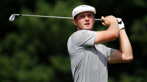 <p>               Bryson DeChambeau tees off on the third hole during the final round of the Dell Technologies Championship golf tournament at TPC Boston in Norton, Mass., Monday, Sept. 3, 2018. (AP Photo/Michael Dwyer)             </p>
