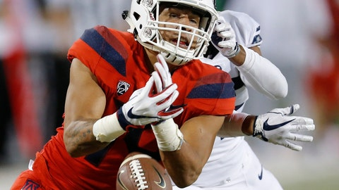 <p>               FILE - In this Sept. 1, 2018, file photo, Arizona wide receiver Shawn Poindexter (19) drops the ball in the second half during an NCAA college football game against Brigham Young, in Tucson, Ariz. Arizona was supposed to make a seamless transition to new coach Kevin Sumlin, possibly contend for a Pac-12 South title. Through two games, the Wildcats have done little but struggle under their first-year coach. (AP Photo/Rick Scuteri, File)             </p>