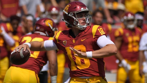 <p>               FILE - In this Sept. 1, 2018, file photo, Southern California quarterback J.T. Daniels passes during the first half of an NCAA college football game against UNLV in Los Angeles. The Trojans will attempt to avoid their first three-game losing streak in a single season since 2012 when they host unbeaten Washington State at the Coliseum in their first Friday night home game since 1999. (AP Photo/Mark J. Terrill, File)             </p>