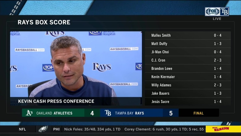Kevin Cash on win: 'We pitched like we needed to'