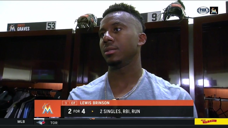 Lewis Brinson talks about his approach to hitting in important situations