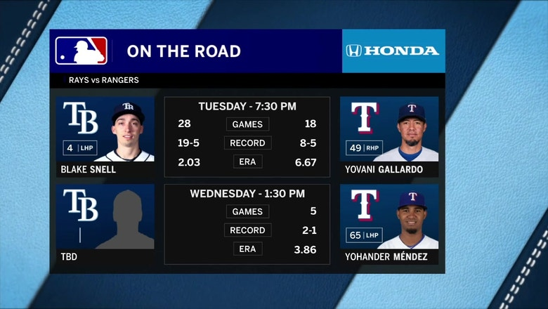Blake Snell goes for 20th win in Game 2 vs. Rangers