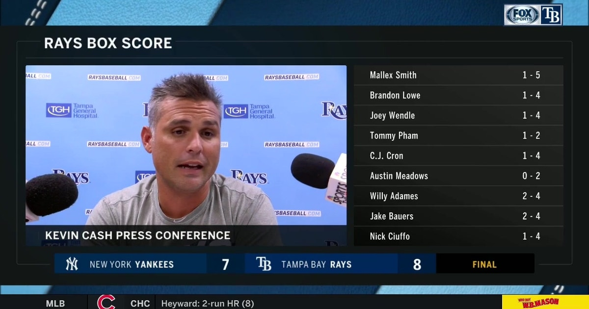 Kevin Cash on win: 'We did so many good things today'